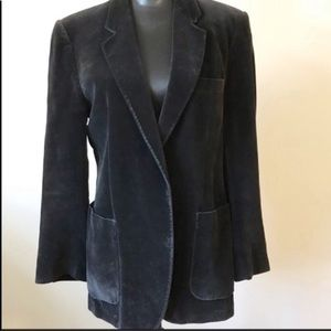 Men's Vintage Vtg Yves Saint Laurent Velour Blazer